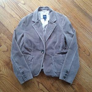 Gap Women's Brown Velvet Blazer Size 12